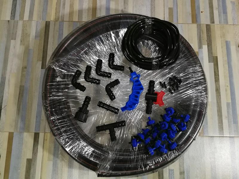 ชุดหัวน้ำหยดปรับแรงดัน 30หัว PE 20มม สาย 20เมตร