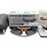 กล้องแว่นตากันแดดทรงสปอร์ต Sports Full HD 1080P Sunglasses <ดำ+ส้ม> ของแท้ 100%