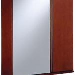 ตู้กระจกเงาและตู้เก็บของด้านข้าง COTTO V4101 AT พร้อม ชั้นวางของด้านในปรับระดับได้ (สีน้ำตาล) 650 x 180 x 700 มม.