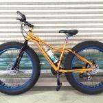 จักรยานล้อโต Cannello The ฺBigg XXL สีเหลือง เฟรมอลูมิเนียม ชุดเกียร์ Shimano 27 Speed ดิสก์เบรคน้ำมัน ล้อขนาด 26x4.8 นิ้ว แฮนด์และหลักอานอะโนไดซ์