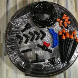 ชุดหัวพ่น 2in1 x10 หัว ท่อ PE 20มม สาย 20เมตร