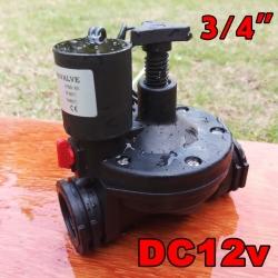 "Solenoid valve DC12v ระบบน้ำ 3/4""นิ้ว"